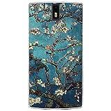 Fubaoda OnePlus One Hülle, 3D Erleichterung Klassische Blume Muster TPU Case Schutzhülle Silikon Case für OnePlus One (1+1)