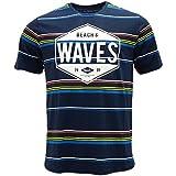 Bench Herren T-Shirt Printed Stripe Tee, Blau (Dark Navy Blue NY031), Large