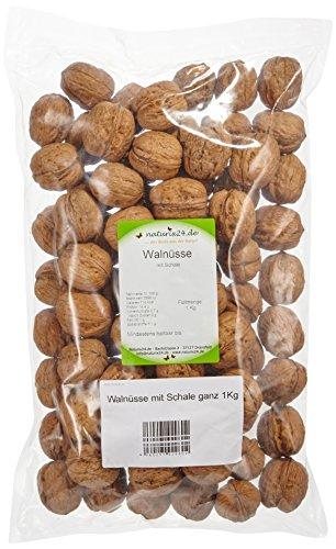 Naturix24 Walnüsse mit Schale ganz – Beutel, 2er Pack (2 x 1 kg)