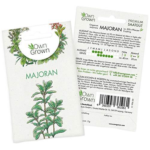 OwnGrown Premium Majoran Samen (Origanum majorana), Majoransamen mehrjährig, Saatgut für rund 300 Majoran Pflanzen (Würzige Bio-tee)