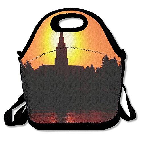 Total Solar Eclipse Tower tragbar Isolierte Lunch Box Tasche Wasserfest Picknick Lagerung Handtasche für Frauen, Erwachsene, Kinder