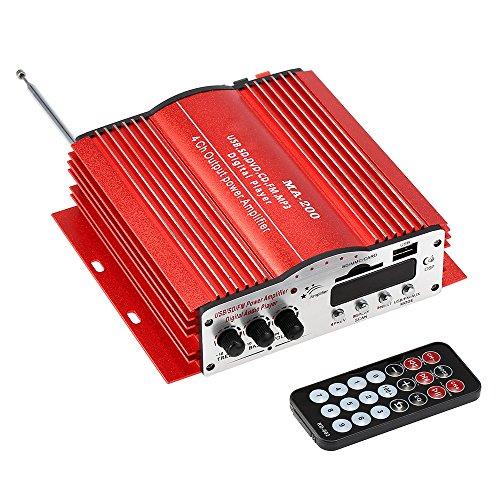 KKmoon HiFi Audio Estéreo Amplificador 4 Canales