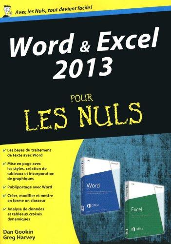 Word et Excel 2013, Mgapoche Pour les Nuls