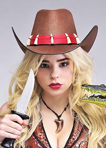 Magic Box Sombrero de Cazador de cocodrilo marrón Australiano