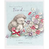 Hallmark Birthday Card For Friend 'Friendship' - Medium