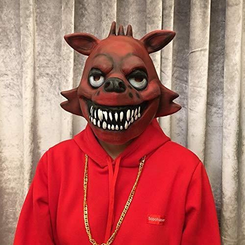 VAWAA Fünf Nächte Bei Freddy Cosplay Maske Foxy Chica Freddy Bär Tier Maske Geschenk Für Erwachsene Halloween Kostüm Party Requisiten Lustig (Foxy Halloween Kostüm)