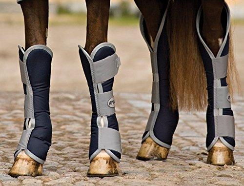 Horseware Amigo Travel Boots - Excal & Orange, Groesse:Vollblut (M)