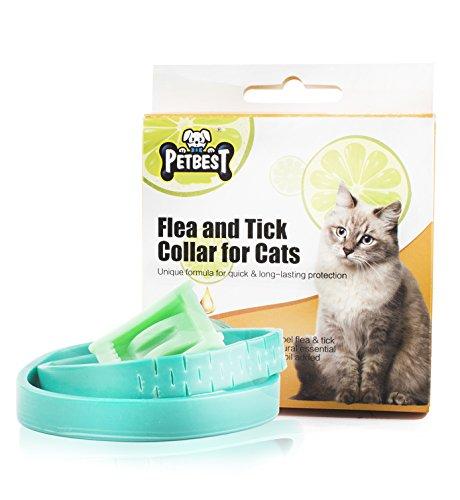Beste Zeckenhalsband für Kleine, Mittlere und Große Hunde & Katze, Wasserdicht, der Natürliche Zeckenschutz Wirksamen Schutz Gegen Flöhen (Für Katze)