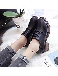 GAOLIM Una Zapatilla De Corte Bajo Los Zapatos Zapatos Gruesos Con Los Zapatos De Tacón Alto Zapatos De Estudiante...