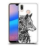 Head Case Designs Ufficiale Bioworkz Profilo Lupo Teste di Animali Cover Retro Rigida per Huawei P20 Lite