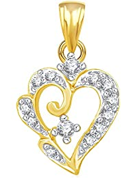 The Marketvilla 925 Sterling Silver Pendent Valentine Heart Shape In CZ Pendant Locket For Women, Girls & Baby...
