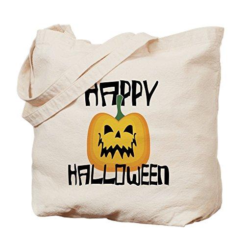 CafePress Happy Halloween Tragetasche, canvas, khaki, M