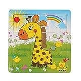 Koly Giocattoli di puzzle in legno per bambini Istruzione e apprendimento Puzzle Giocattoli (Giraffa)