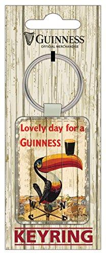 Guinness PU-Leder-Schlüsselanhänger mit Tukan auf einer Wetterfahne