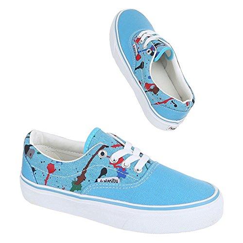 Ital-Design Donna pantofole Blu