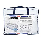 King (230 x 220 cm) : Homescapes King Size 10.5 Tog New White Duck Feather & Down Duvet - 100% Cotton Anti Dust Mite & Down Proof Cover - Anti allergen - Washable at Home Luxury Quilt