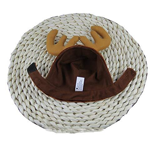 Xiton 1pc Headbands Dog Antlers Cap PET liefert Hunde Katze hat Hirsch Hüte Teddy Dog Antlers Hund Gentleman Caps Christmas hat PET ()