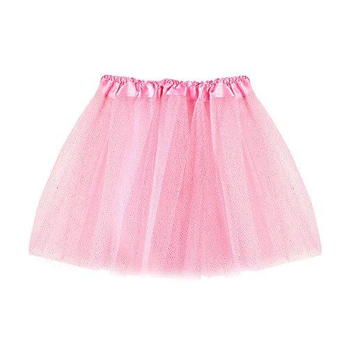 fd464f111d Topgrowth Gonna Tulle Bambina Ragazza Abiti Festa Vestito da Matrimonio  Danza Gonne Balletto Principessa Vestito da Ballo (Rosa)