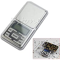 Xuniu 500g 0.1g Balanza de Bolsillo Digital Precisión de Peso Peso electrónico