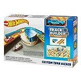 Hot Wheels FPG95 Track Builder Basis Set Verstellbarer Kurven Kicker, Trackset Zubehör inkl. 1 Spielzeugauto, ab 6 Jahren