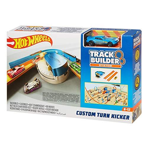Hot Wheels FPG95 Track Builder Basis Set Verstellbarer Kurven Kicker, Trackset Zubehör inkl. 1 Spielzeugauto, ab 6 Jahren (Builder Hotwheels Track)