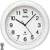 AMS 5957Orologio da parete bagno radio orologio impermeabile bianco