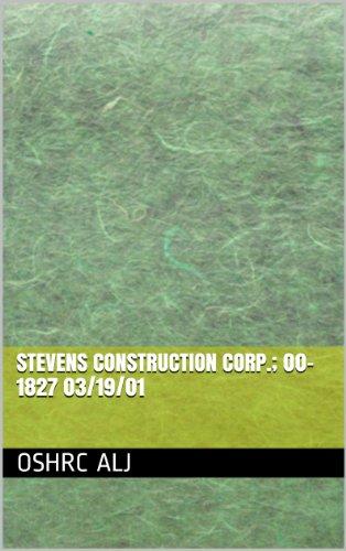 Stevens Construction Corp.; 00-1827  03/19/01