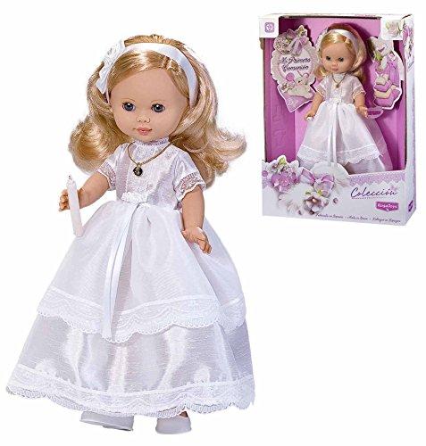 Rosa Toys - Muñeca Vestida de Primera Comunión Rubia con Vela, 40 cm (4292)