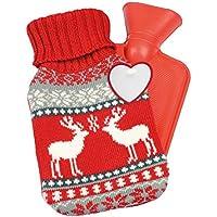 Wärmflasche 595 ml mit Weihnachtsmotiv Gummiwärmflasche CUDDLE Bettflasche preisvergleich bei billige-tabletten.eu