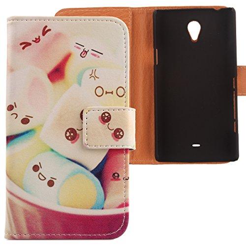 Lankashi PU Flip Leder Tasche Hülle Case Cover Schutz Handy Etui Skin Für Sony Xperia T Lt30P Lovely Design