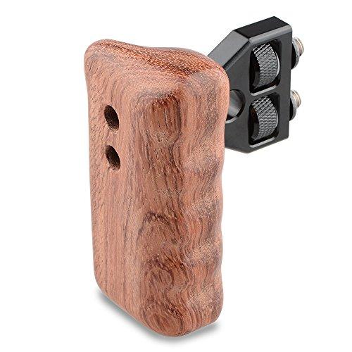 CAMVATE DSLR Holz Griff für Rechts Grip Halterung fr DV Video Rig Cage Schulterstativ (Rechte Hand) (Griff Cage)