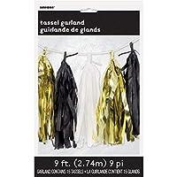 Hen Party Superstore Black and Gold Metallic Tassel Garland