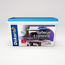 GDM Dekortè - Pintura al cuarzo para exteriores, para barbacoas y chimeneas, color: