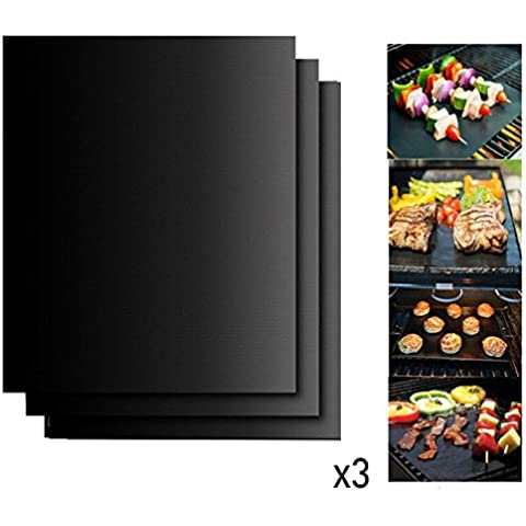 Antiaderente cottura barbecue grill Mats, dhong lavastoviglie Tappetini in fibra
