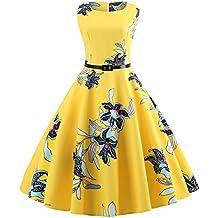 Vestido vintage de los años 50 para mujer, estilo Saihui Audrey Hepburn, estilo casual