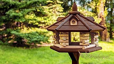 Wooden Bird Table House, Feeder from krakwood