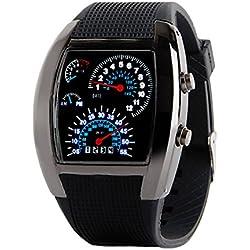 Fenkoo Men's Watch Sports Speedometer Style LED Digital