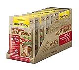 GimDog Superfood Meat Bones Hühnchen mit Cranberries und Rosmarin – Hundesnack mit hohem Fleischanteil und Mono-Protein – ohne Zuckerzusatz – 8 Beutel (8 x 70 g)