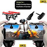 #10: Taslar Mobile Game Controller, Gamepad Aim Keys Joystick for PUBG/Fortnite/Knives Out/Rules of Survival Gaming Triggers for iOS and Android