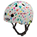 nutcase Helmet Unisex Children Baby nutty-happy Hearts, Multi-Colour