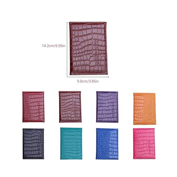 Hihey Titular de Pasaporte de protección Pasaporte de imitación de Cuero de Primera Calidad Titular de la Tarjeta de… 2