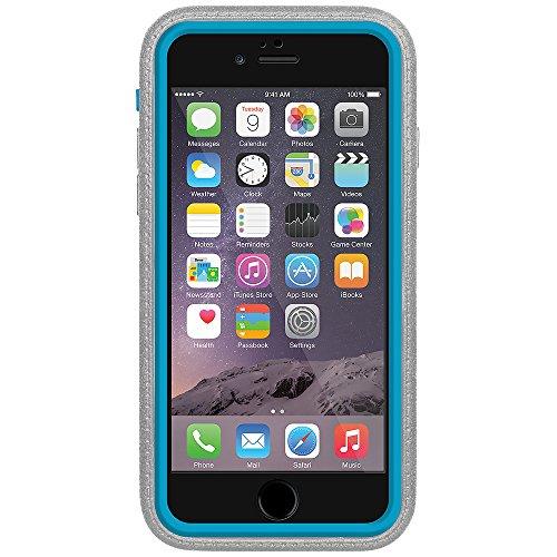Amzer Crusta edge2edge Shell Housse Coque Étui robuste avec verre trempé et support pour iPhone 6Noir/Gris Espace _ P gris/bleu