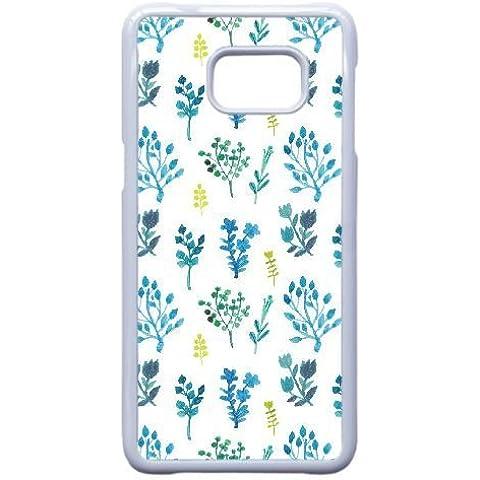 Samsung Galaxy Note 5 Edge Case,Creative Design Blue Flora Pattern