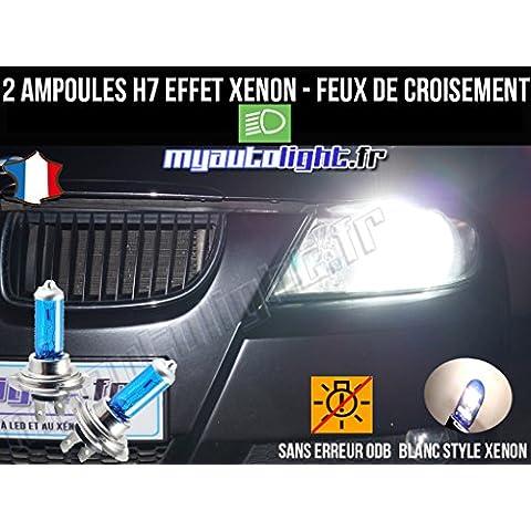 Pack lampadine H7bianco Xenon Fuochi croisement-code per BMW Serie 3E90 - Bmw Coda Lampadina