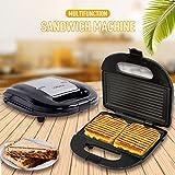 WAMGLAI Sandwich toaster, Sandwich antiadhésif et gaufrier Plaque pour griller et presser le panini