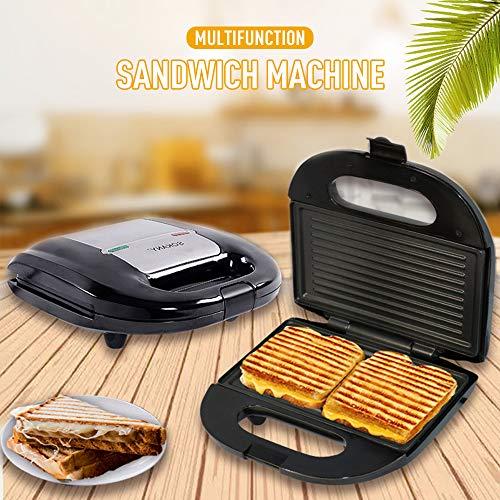 WANGLAI Sandwich-Toaster, Antihaft-Sandwich- und Waffeleisen-Plattengrill und Panini-Presse Panini Maker für Sandwich-Toaster