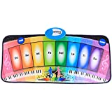Mat Piano, WOLFBUSH Kids Piano Play Mat 8 Key Steop On Keyboard Floor Mat Toy for Baby Toddlers, Dance and Record