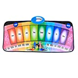 Musikmatte Kinder, CT-Tribe Keyboard Matten Spielteppich Piano für Baby Kinder 80x40cm