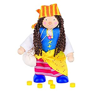 Goki 51619 muñeca - Muñecas (Multicolor, Masculino, Niño/niña, 3 año(s), Madera, CE)