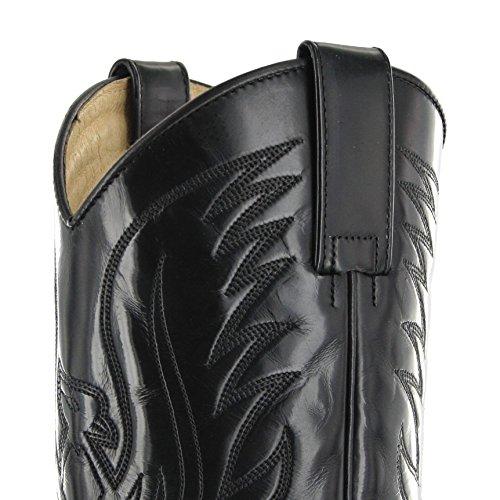 Sendra Boots3241 - Stivali western Unisex – adulto Multicolore (Negro Rojo)